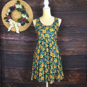 Vintage 90s all that Jazz floral mini skater dress